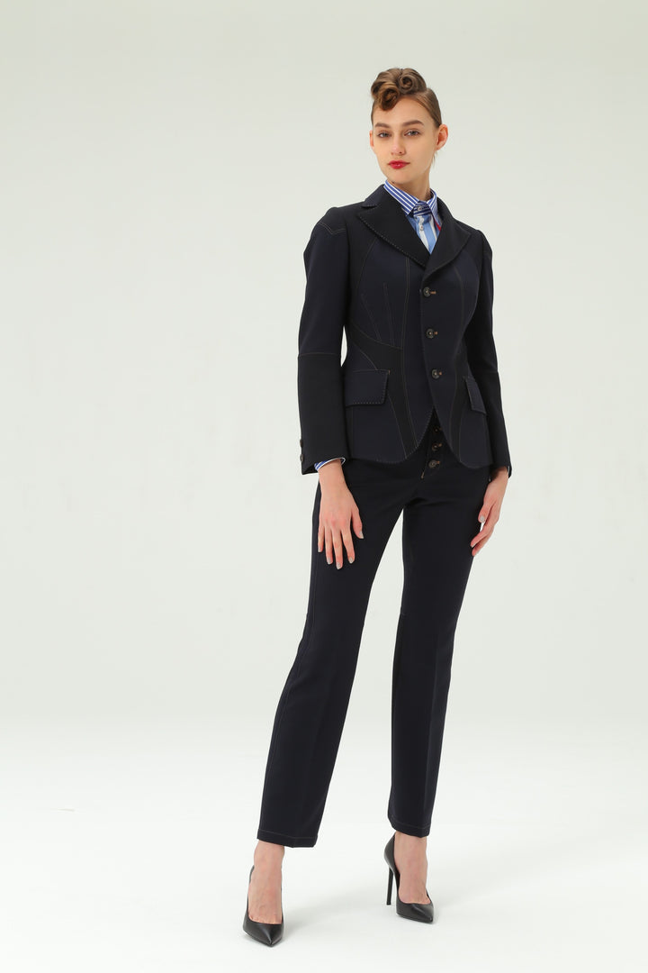 Shiro Sakai Classic Tailored Jacket in Navy