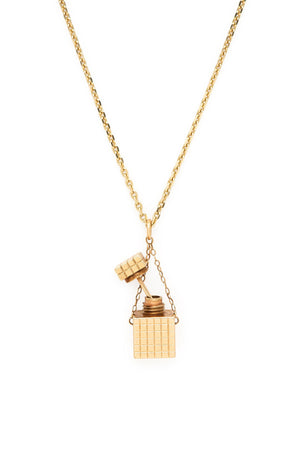 14K Gold 1920s Mini Perfume Bottle Charm
