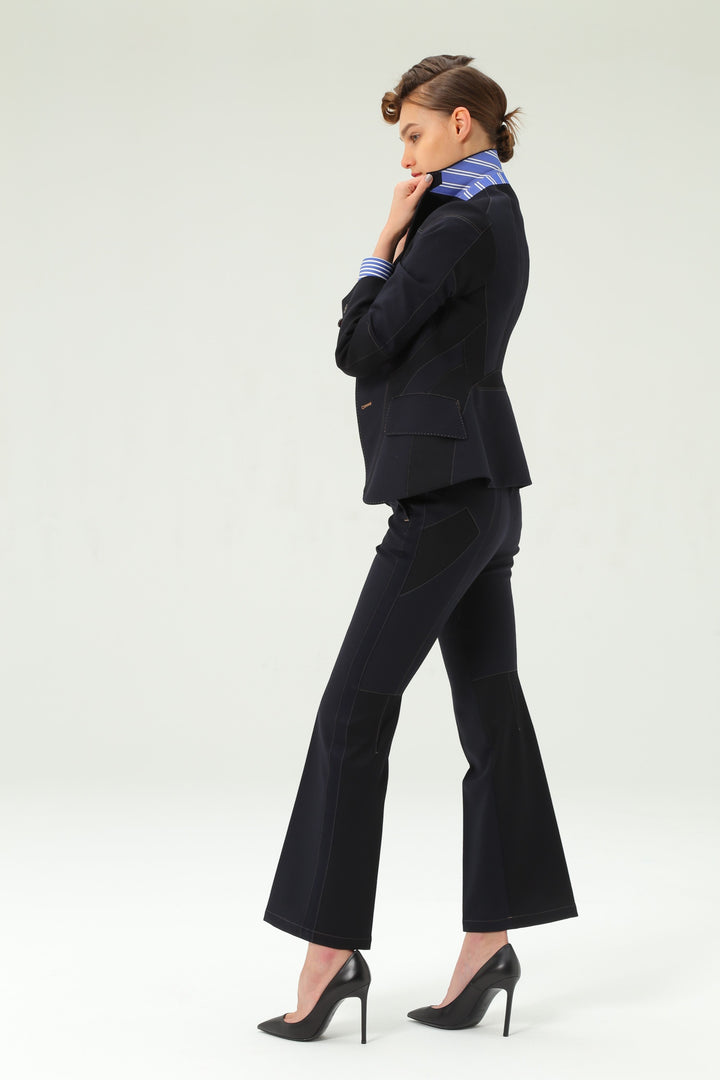 Shiro Sakai Standard Slacks in Navy