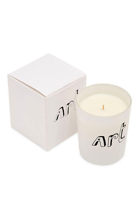 White Art Candle