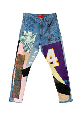 Re-Worked Multi Patch Denim Jean - The Wasted Years