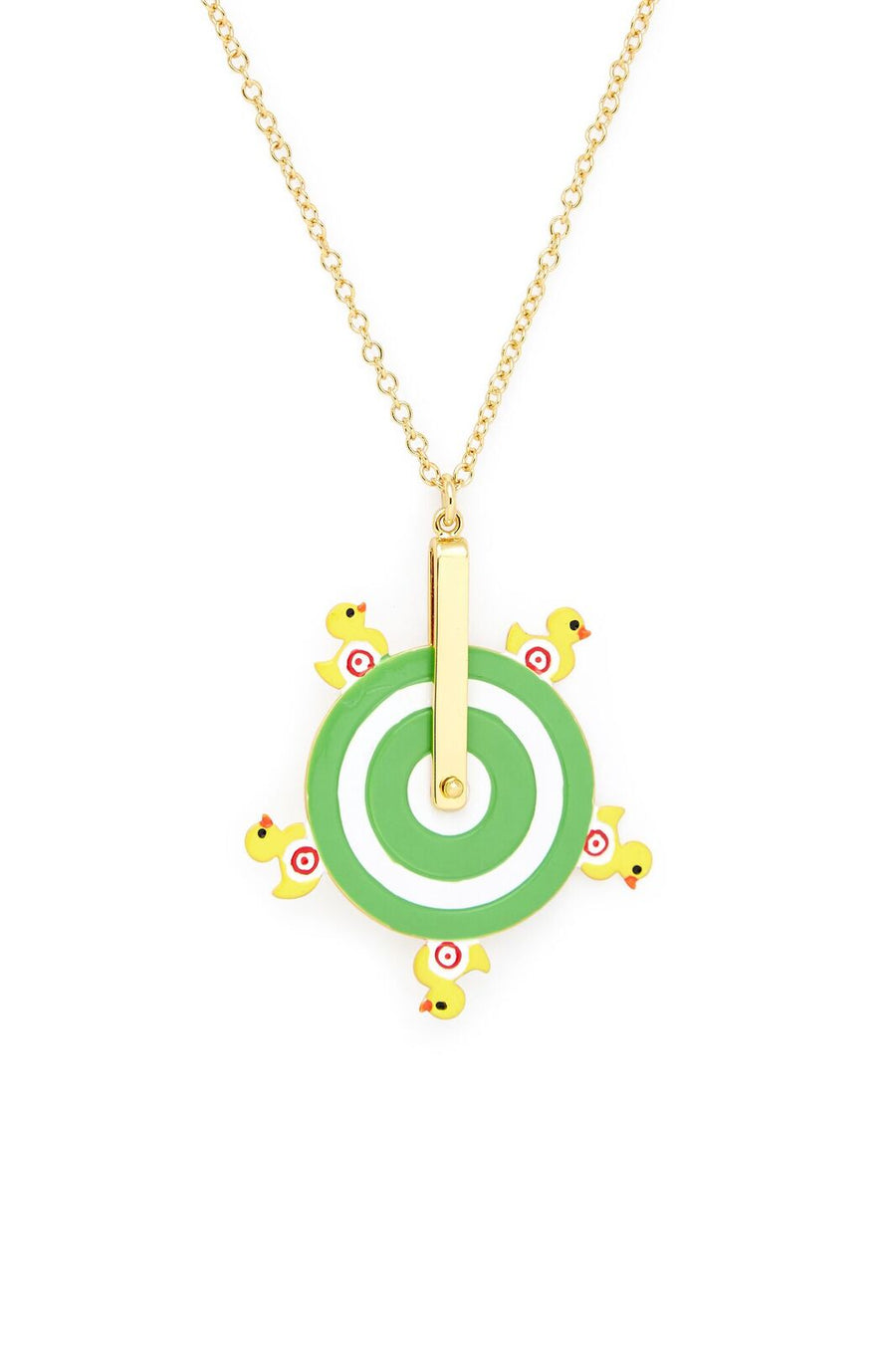 Duck Pond Spinning Wheel Necklace