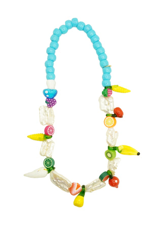 Turquoise Fruit Short Necklace