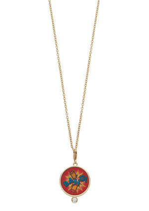 Bang Hologram Charm Necklace