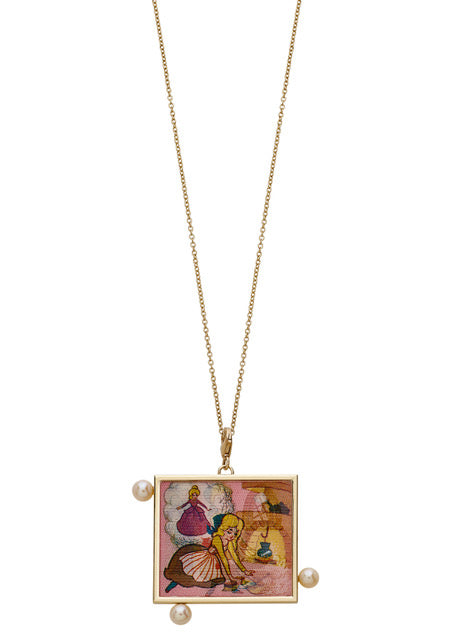 Cinderella Hologram Charm Necklace