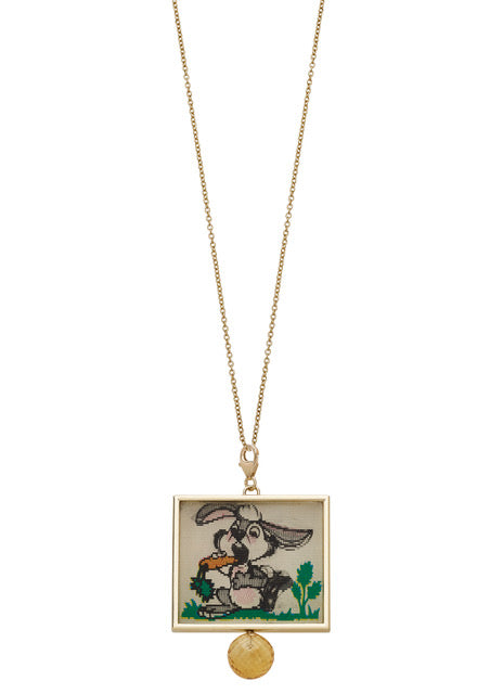 Rabbit Hologram Charm Necklace