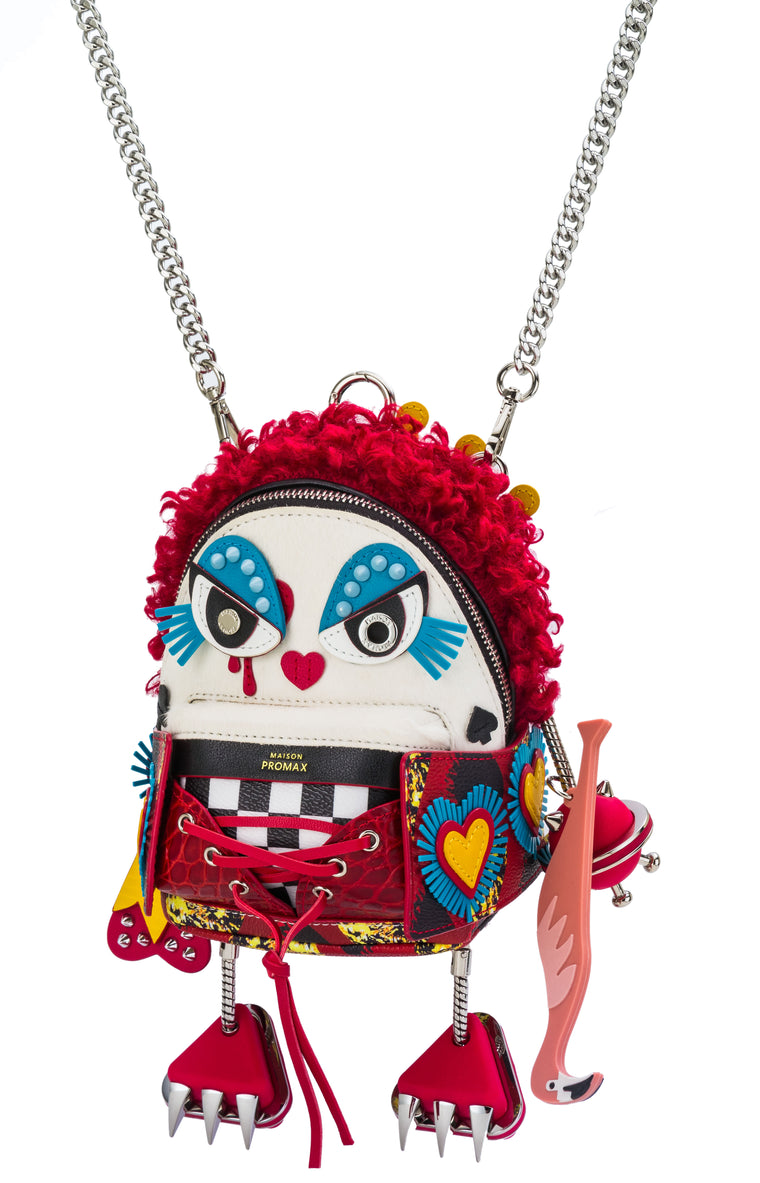 Maison Promax Queen of Hearts Mini Backpack