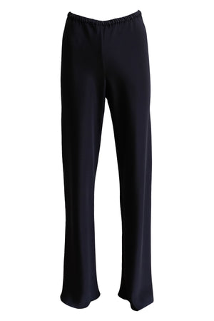Black Silk Bias Wide Leg Pants