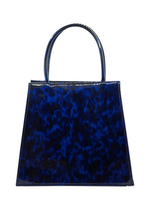 Rosalie Purse in Navy Tortoise Patent
