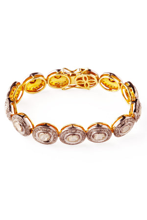Raw Diamond Sun Bracelet