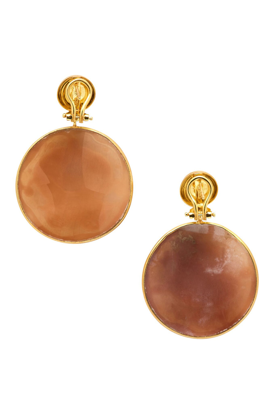 Gold Plated Sterling Silver Cinderella Cameo Earrings