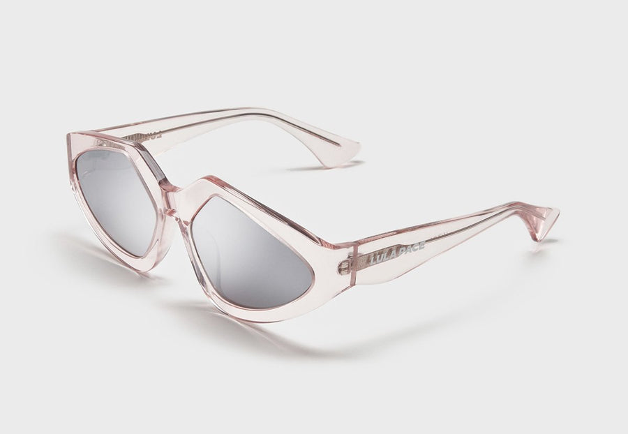 Pink Acetate with Silver Lens Lux 04 Sunglasses