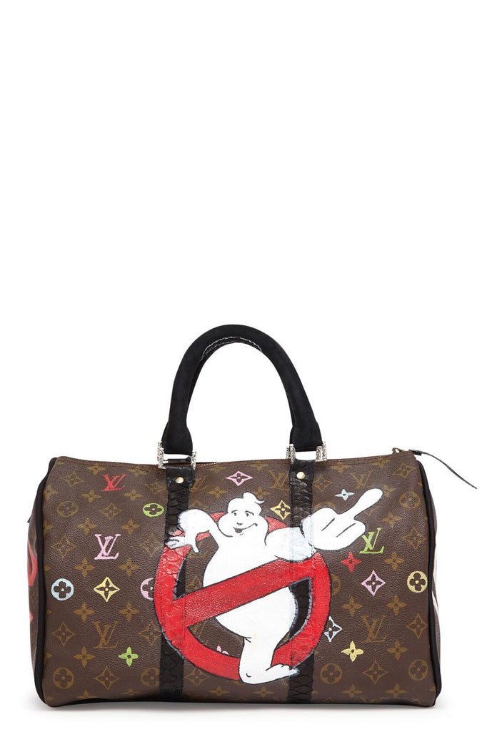 "Vintage Monogram LV Speedy 35 ""Ghostbusters"" Bag"