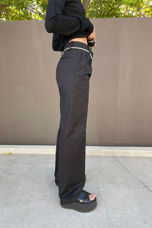 Chain Detail Pants in Black