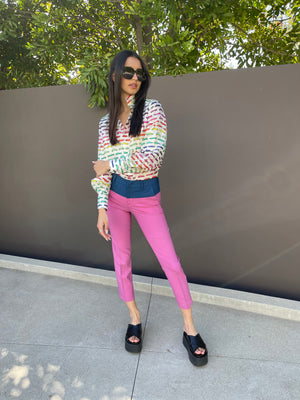 New York Cigarette Pant in Pink
