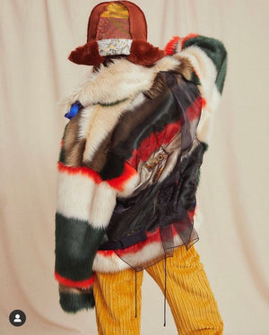Lux Multi-Color Faux Fur Jacket
