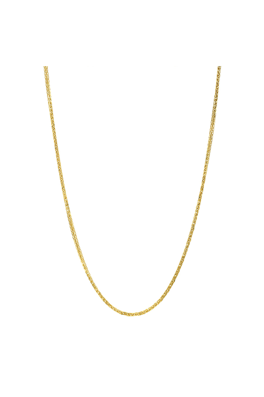 "14K Gold 24"" Foxtail Chain"
