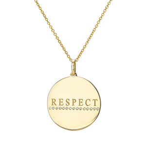 14K Gold Respect Medallion