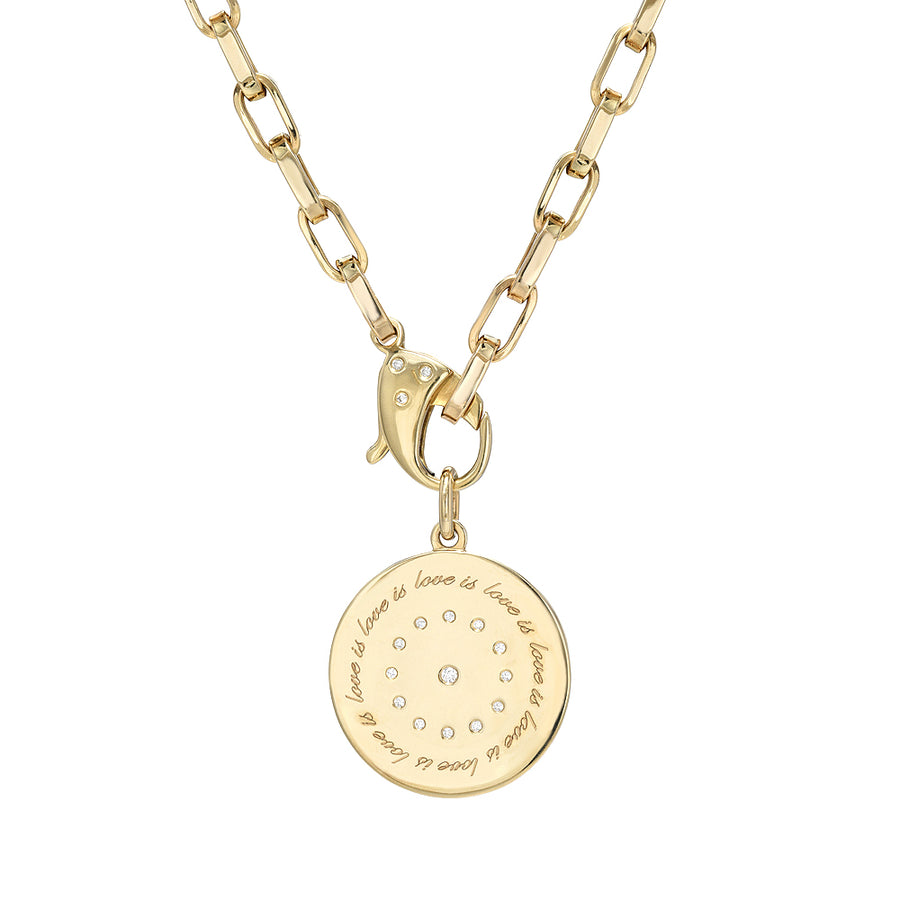14K Gold & Diamond Love is Love Medallion