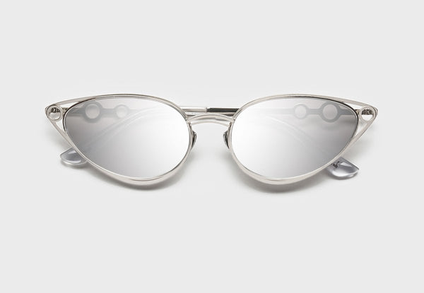 Silver Stainless Steel with Silver Lense Sophia 02 Sunglasses