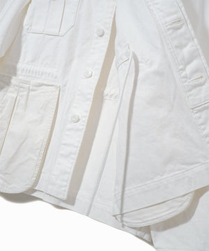 Jacket with Pockets White