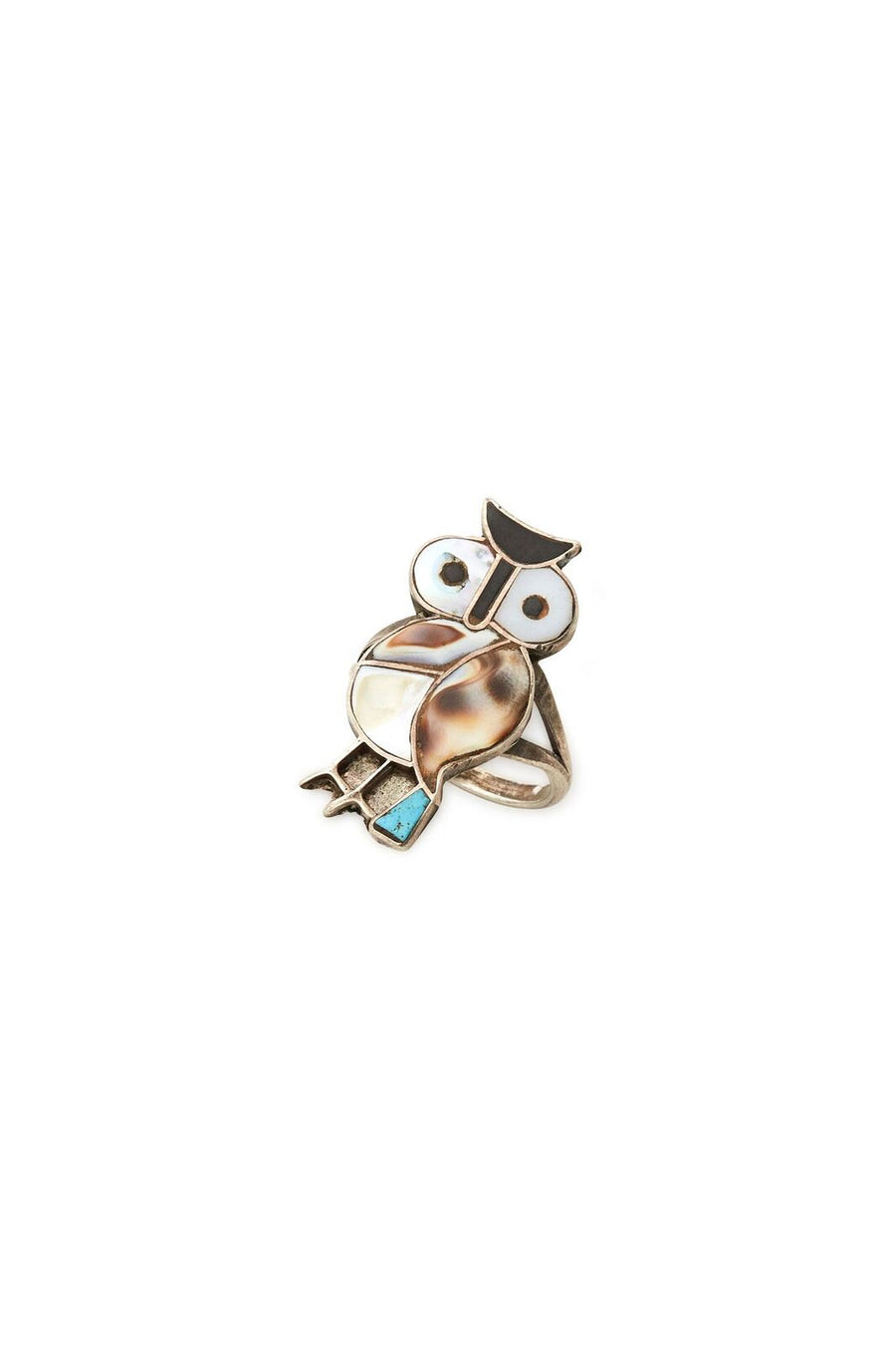 Sterling Silver Tall Owl Ring - SZ 7