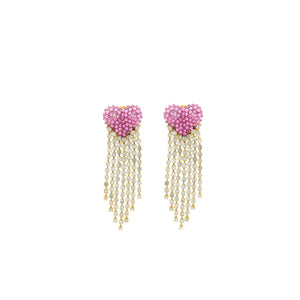 Shourouk Love Tears Pink Earrings