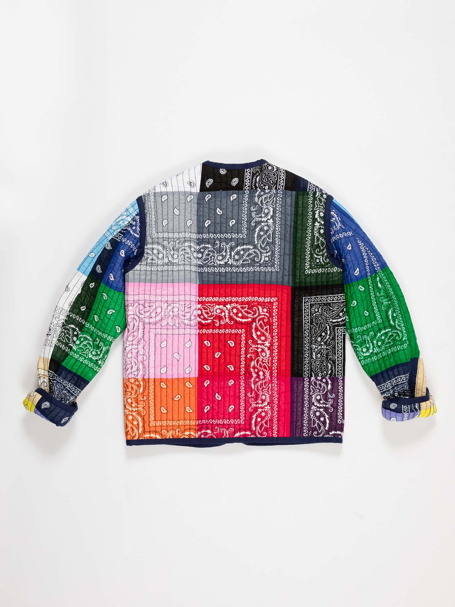 Janis Paisley Printed Quilted Reversible Jacket