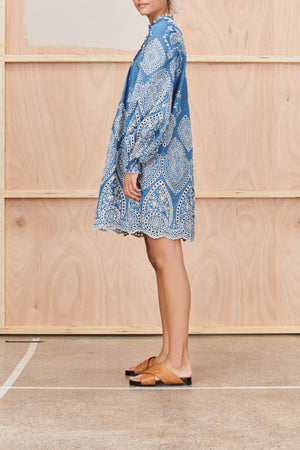 Tepic Denim Dress in Blue