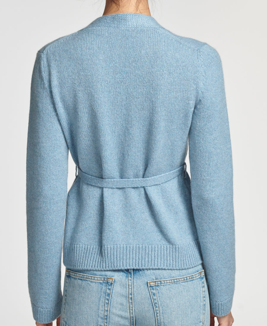Cardigan W/ Belt in Blue