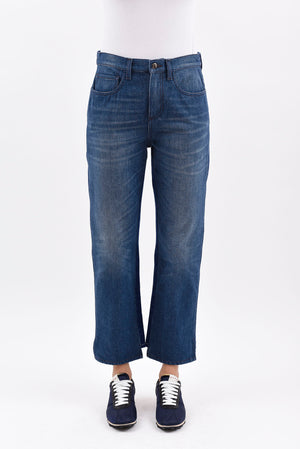 Two -Tone Denim Trousers - Azure