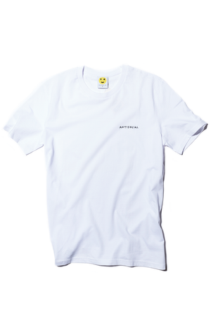 White Crewneck Embroidered Antisocial Tee