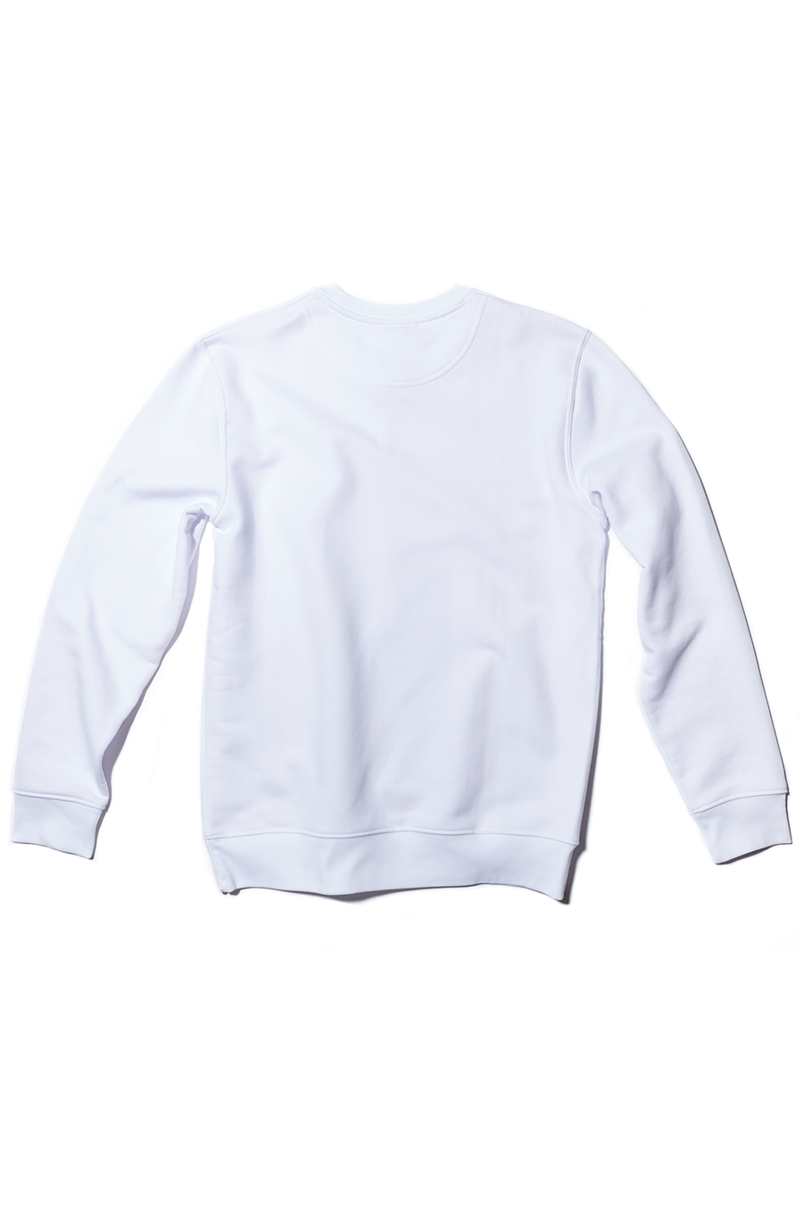 White Crewneck Embroidered Don't Look Sweatshirt