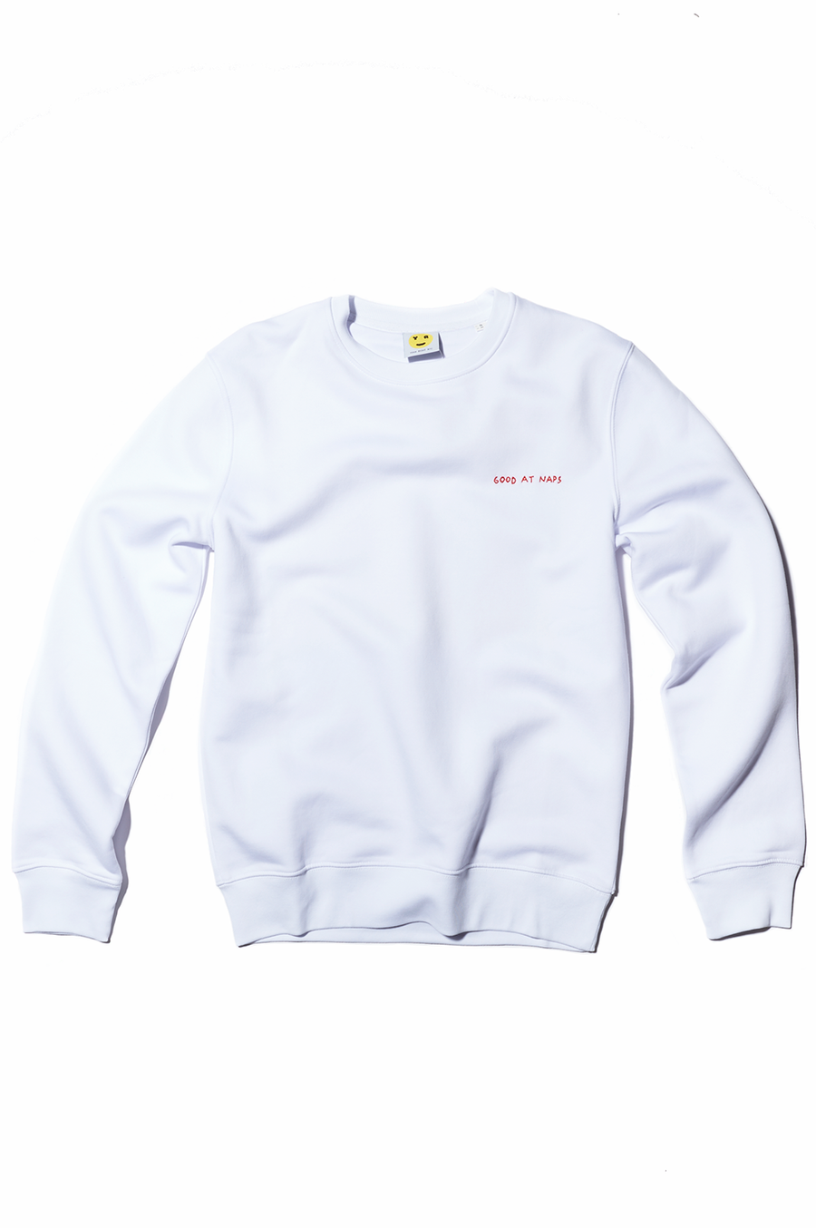 White Crewneck Embroidered Good At Naps Sweatshirt