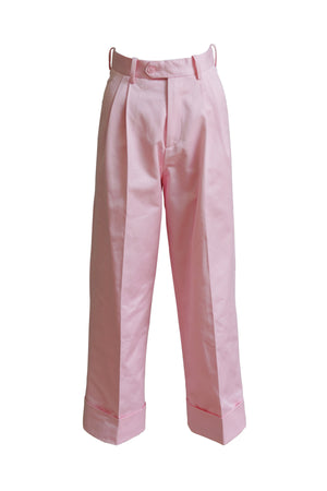 Wide Leg Whisky Trousers in Pink