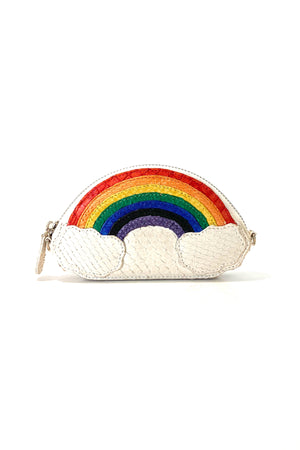 Exotic Skin Rainbow Zipper Wallet