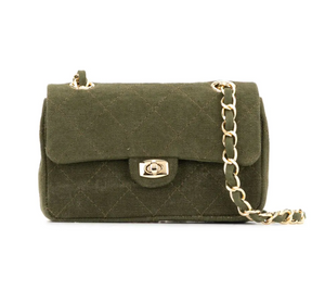 Chain Bag Mini Size in Army Green