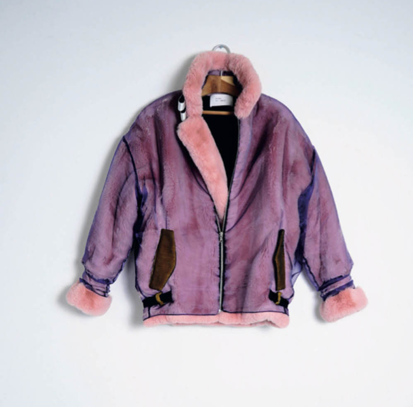 Lux Faux Fur Jacket in Rose