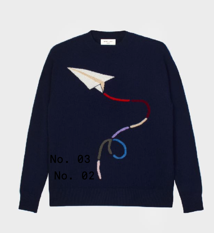 No 4 Cashmere Sweater in Navy
