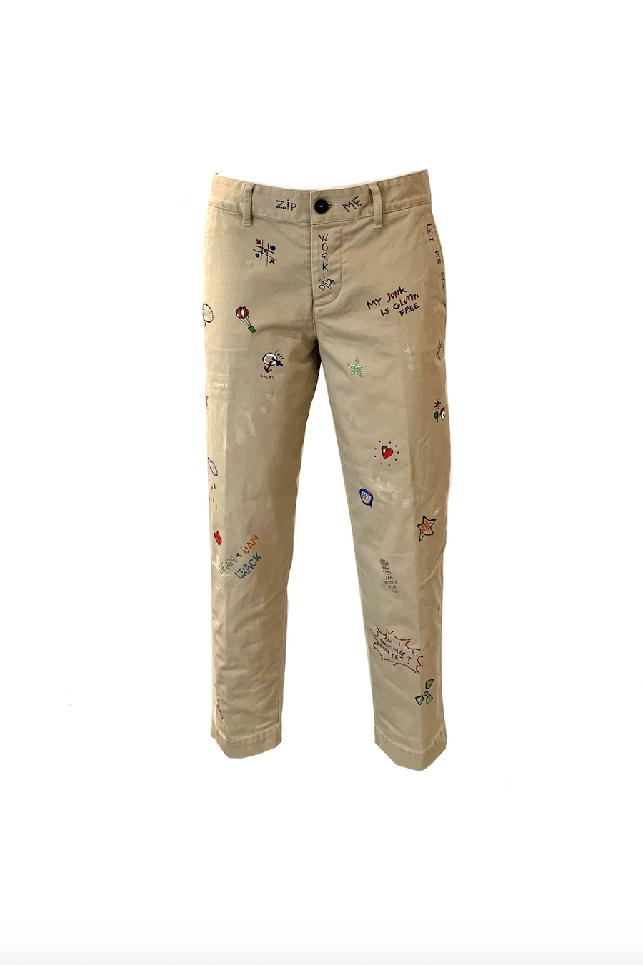 Hockney Fit Pants with Embellishments