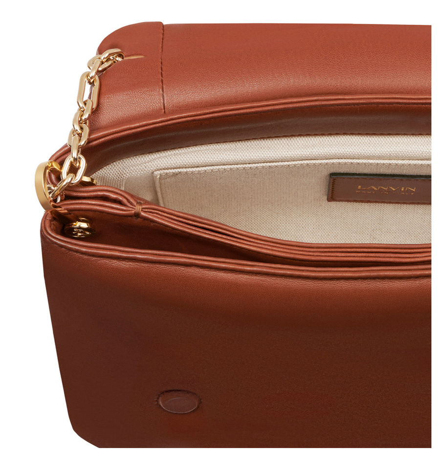 Nappa Leather Sugar MM Bag in Terracotta