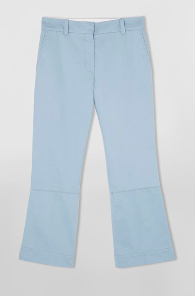 MARNI Masculine Trousers in Organic Cotton Drill Blue