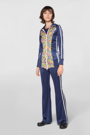Full Zip Sweatshirt in Fluid Jersey Pop Garden Print