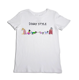 Doggy Style Women's White T-Shirt