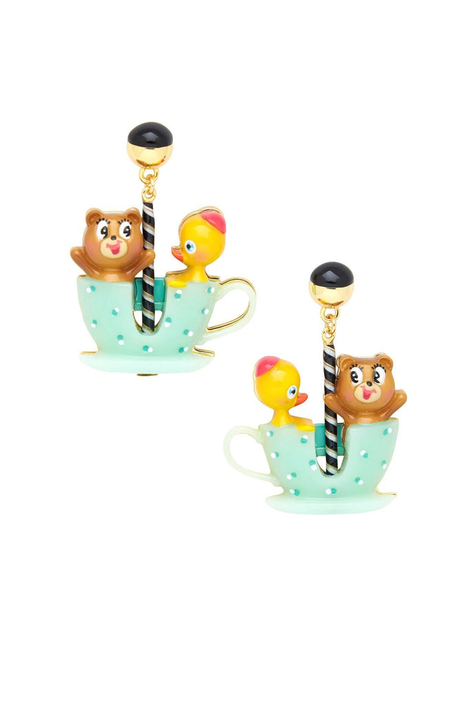 Tea Cup Friends Earrings