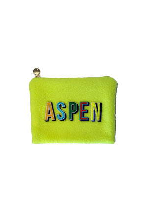 Aspen Make-Up Pouch in Yellow