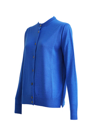 Long Sleeve Button-Up Cardigan - Blue