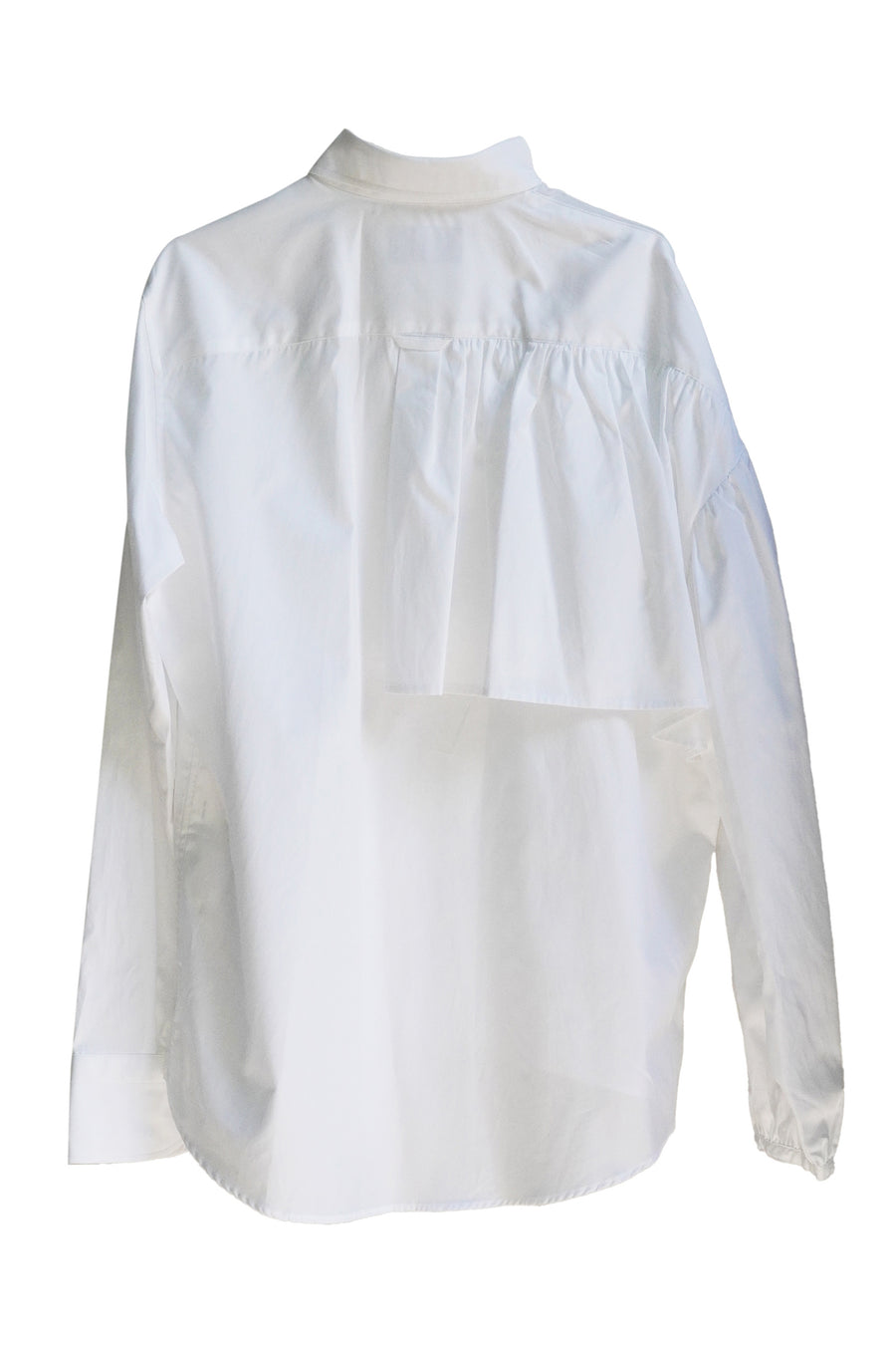 Ruffle Blouse in White