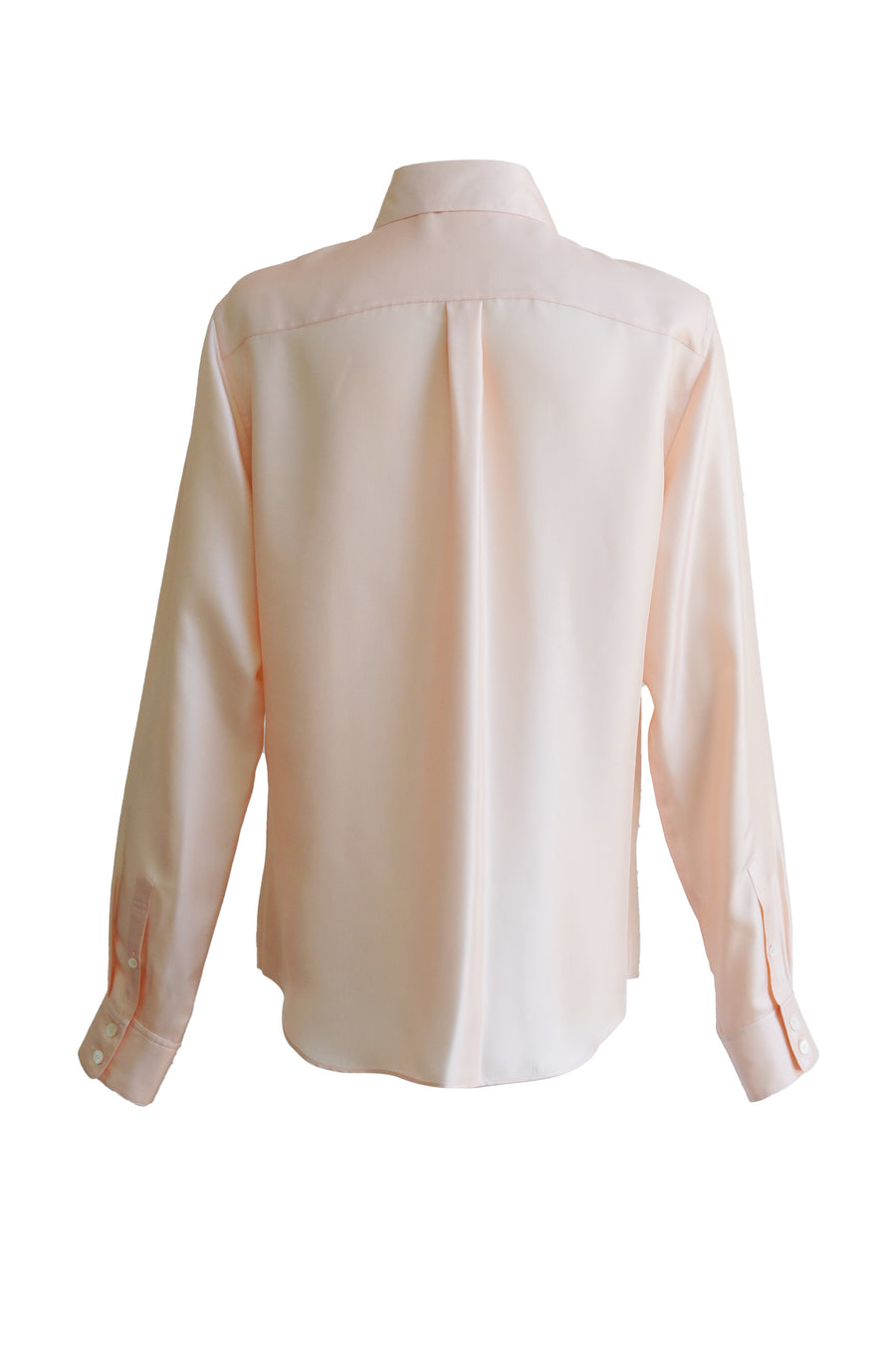Silk Babar King Button Down Top in Pink