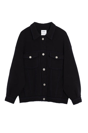Oversized Jacket Cardigan in Black